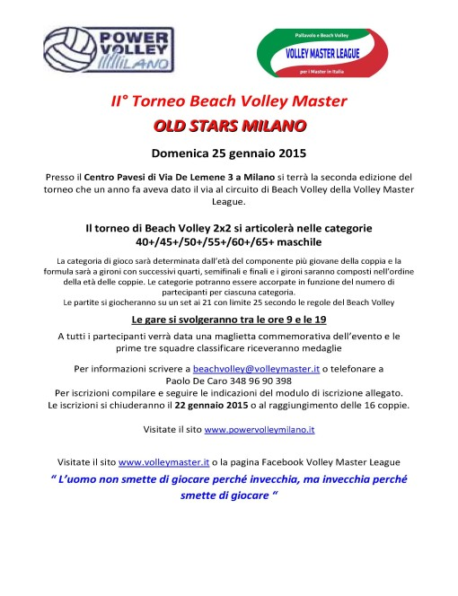 BeachVolleyOldStarsMilano