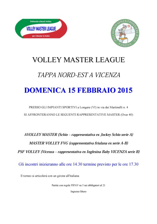 VOLLEY MASTER LEAGUE 2015